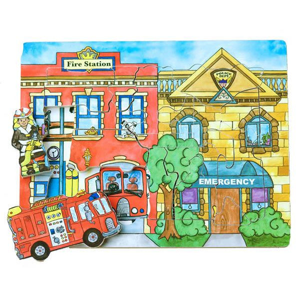 Flipzles Rescue Station Puzzle and Play Set