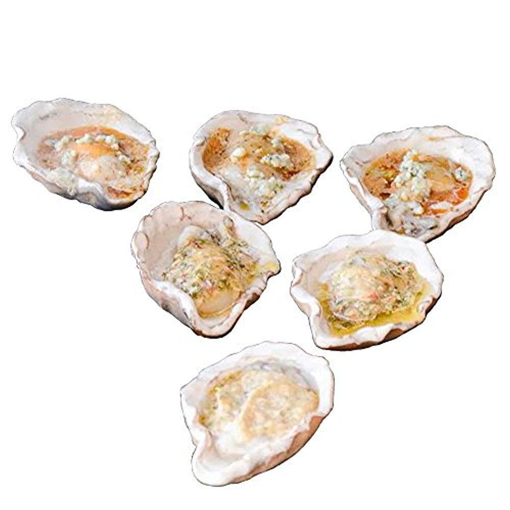 Loftin Oysters Ceramic Reusable Chargrilling Oyster Shell, Set of 12. Great for Seafood of all Kinds. Made in the USA.