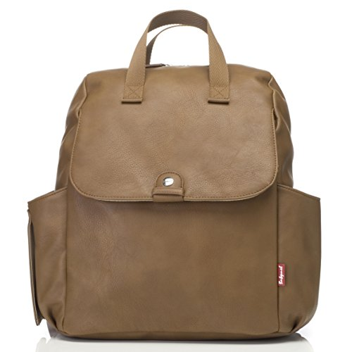 Babymel Tan/Faux Leather Robyn Convertible Backpack Diaper Bag, One Size