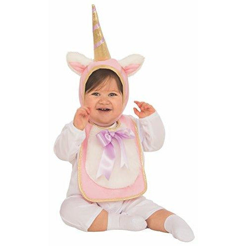 Unicorn Baby Bib and Hat