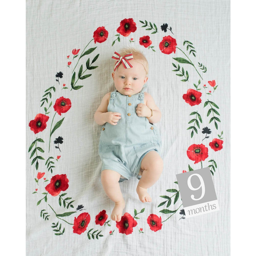 Photo Blanket- Summer Poppy