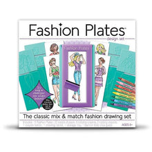 Load image into Gallery viewer, Kahootz Fashion Plates Fashion Drawing Set