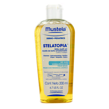 Mustela Stelatopia Milky Bath Oil 6.7 fl oz.