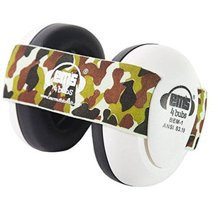 Ems For Kids White Baby Earmuff and Camo Headband