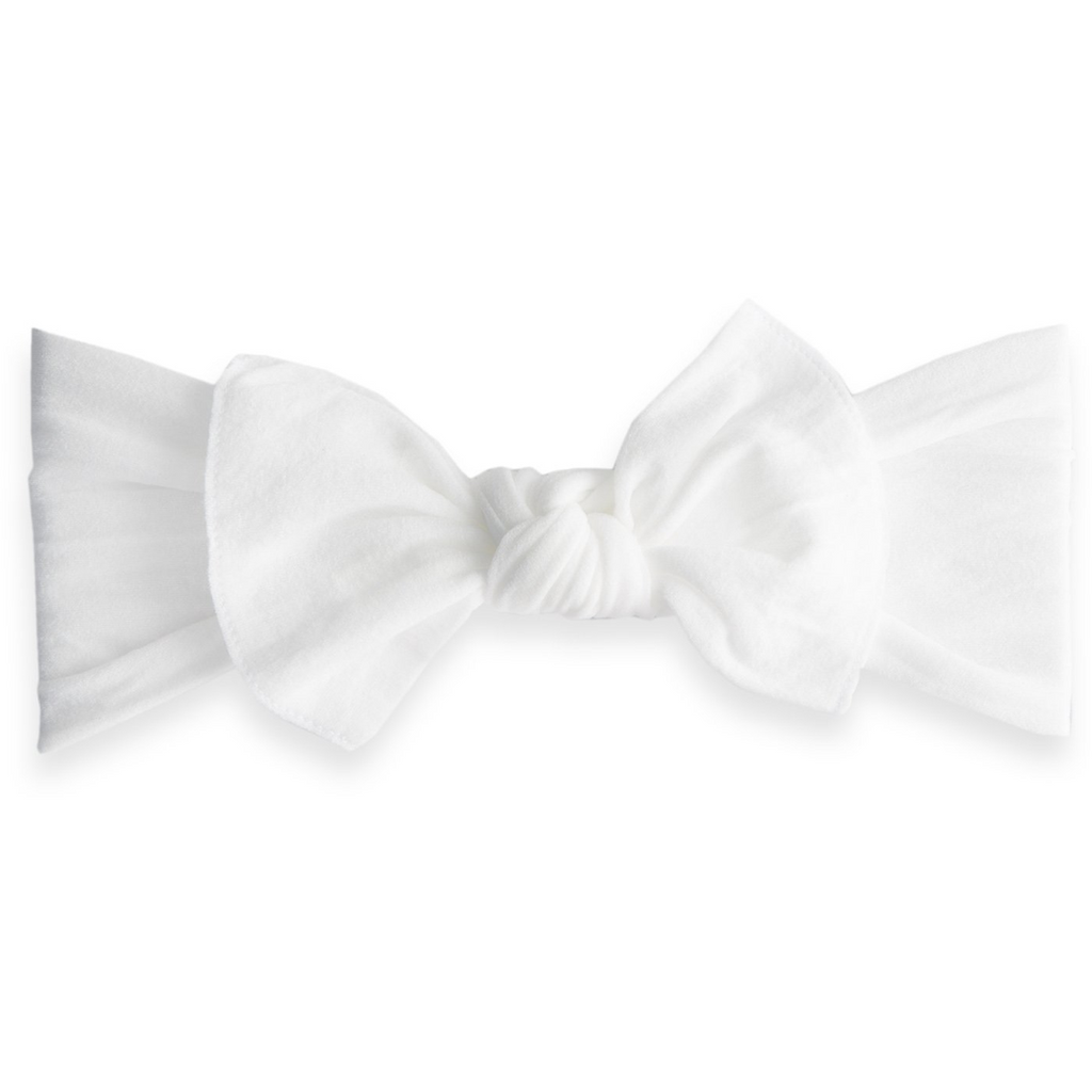 Baby Bling Bow Original Knot, White
