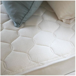 Naturepedic Quilted Organic Cotton Deluxe Mattress - Twin 1 Sided