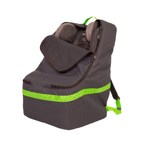 JL Childress Grey with Lime Trim Ultimate Car Seat Travel Bag