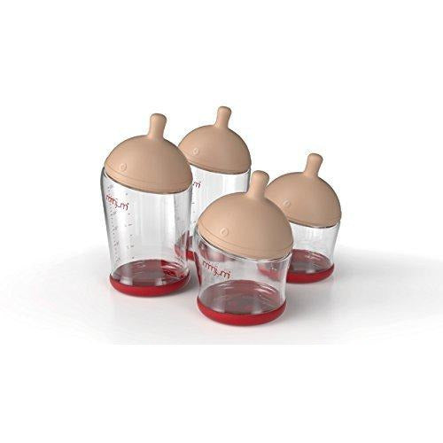 mimijumi Get Going Breastfeeding Bottle Kit, Set of 4