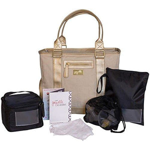 JL Childress Terra Gold Breast Pump Bag, 6pc Set