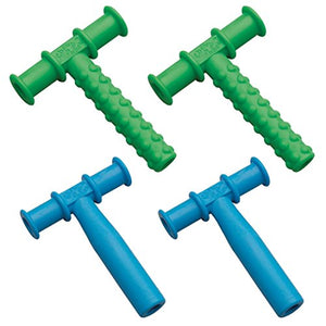 Chewy Tubes Blue/Green Teether Combo, 4 Pack