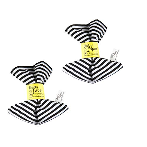 Baby Paper 2 Pack - Black & White Striped Crinkly Baby Toys