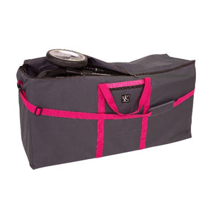 JL Childress Grey with Fuchsia Trim Standard and Dual Stroller Travel Bag