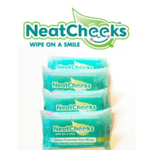 NeatCheeks Sweet Flavored Baby Face Wipes for Sensitive Skin, 4 Pack
