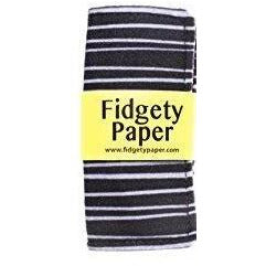 Baby Paper Black & Gray Stripe Pocket Fidget Paper