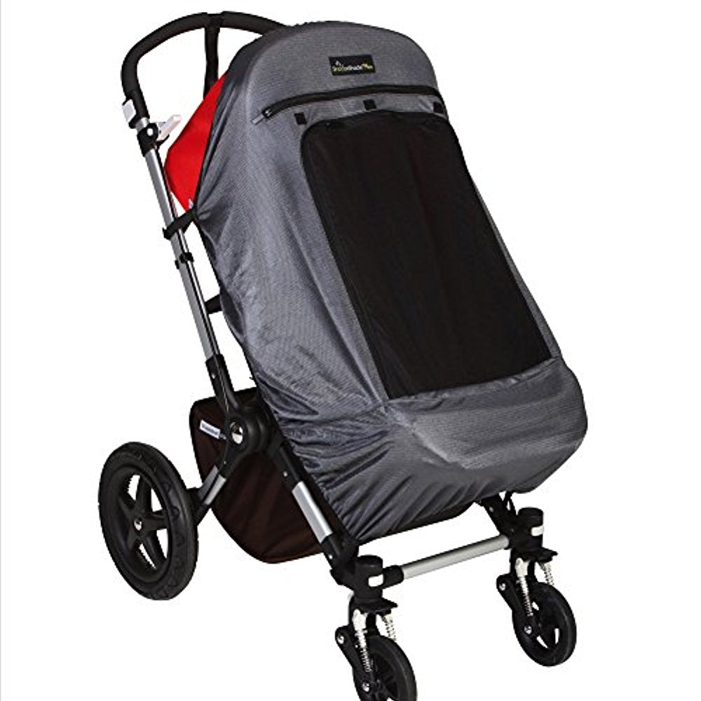 Snoozeshade Plus Deluxe Sunshade and Baby Sleep Aid for Single Strollers/Joggers/Prams