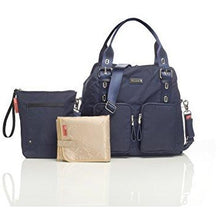 Load image into Gallery viewer, Storksak Navy Alexa Shoulder Diaper Bag