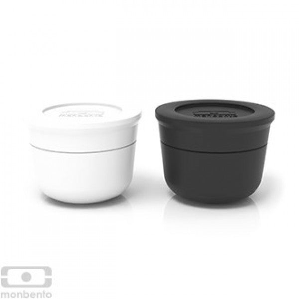 Monbento MB Temple S Black and White 2 Piece Sauce Cup Set