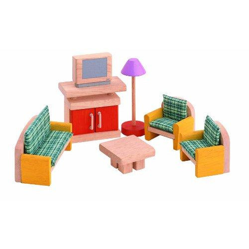 PlanToys Dollhouse Furniture, Neo Living Room