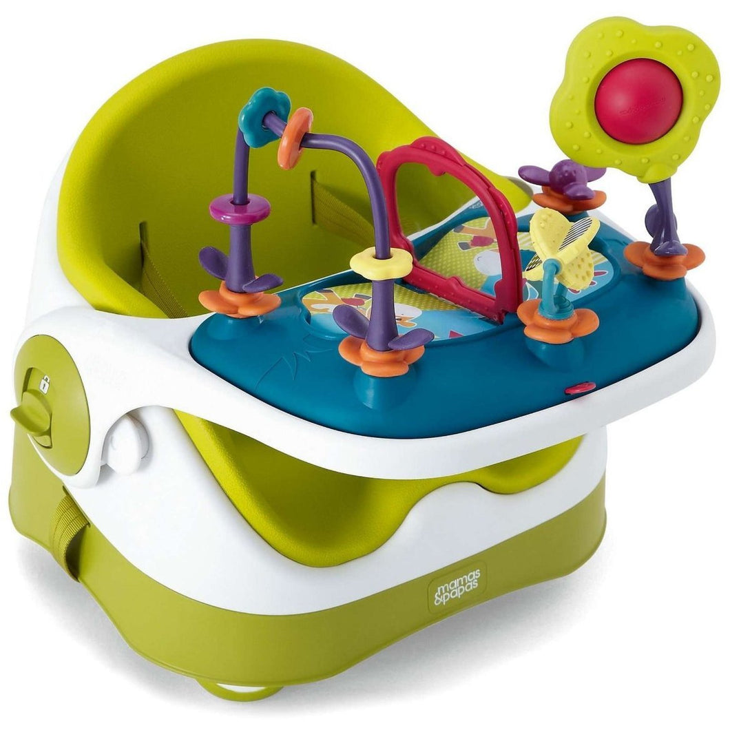 Mamas & Papas Baby Bud Booster Seat with Activity Tray, Lime