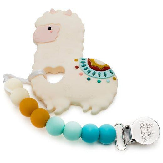 Loulou Lollipop- Llama Teether Set