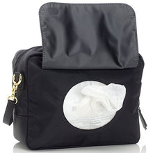 Load image into Gallery viewer, Storksak Black Mini Fix On-the-Go Clutch Diaper Bag