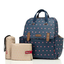 Load image into Gallery viewer, Babymel Robyn Convertible Backpack Diaper Bag, Origami Heart Navy