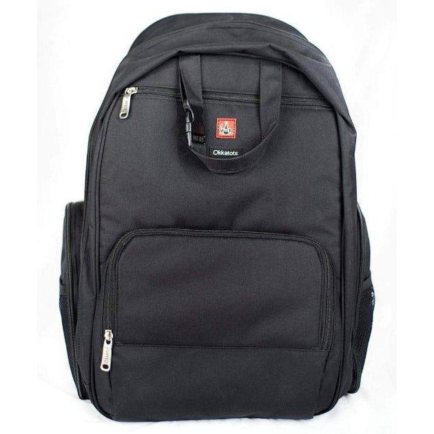Okkatots Travel Depot Backpack Bag, Black