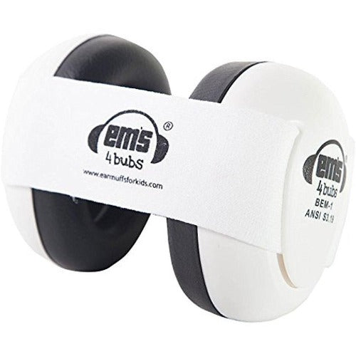 Ems For Kids White Baby Earmuff and White Headband