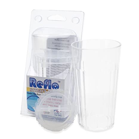 Reflo Smart Cup, a Smart Alternative to Sippy Cups (Clear - 2 Pack)