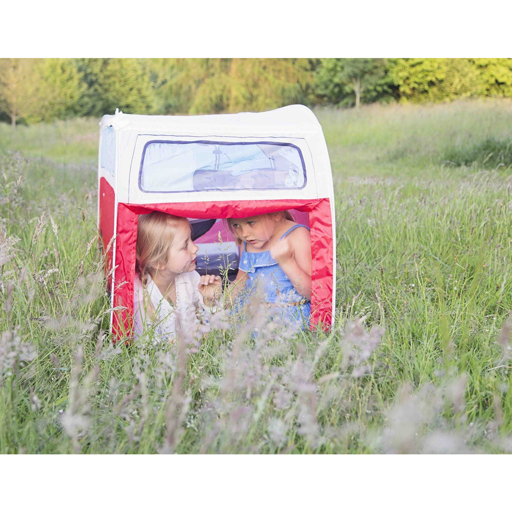 VW Camper Van Pop Up Play Tent for Kids, Red