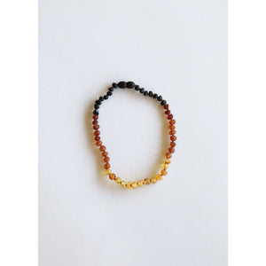 Canyon Leaf Ombre Baltic Amber Adult Necklace