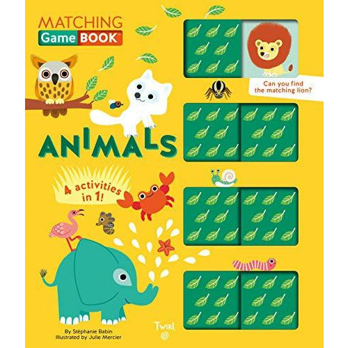 Animals Matching Game Book: 4 Activities in 1! (Matching Game Books (1))