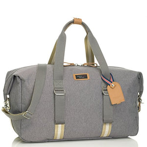 Storksak Travel Duffle Bag with Organizer, Grey