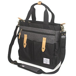 Product of the North Black Dawn Baby Diaper Bag Tote with Stroller Straps and Removable Changing Pad