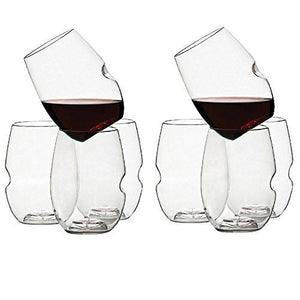 Govino Wine Glass Flexible Shatterproof Recyclable 12 Oz, Set of 8
