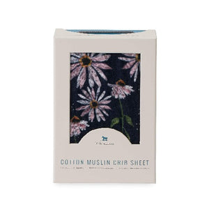 Little Unicorn Cotton Muslin Crib Sheet, Coneflower