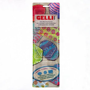 Gelli Arts Printing Plates Minis (Rectangle, Oval, Hexagon), Transparent