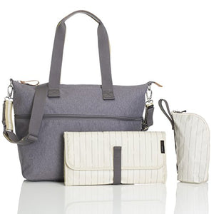 Storksak Travel Expandable Tote Diaper Bag, Gray, One size