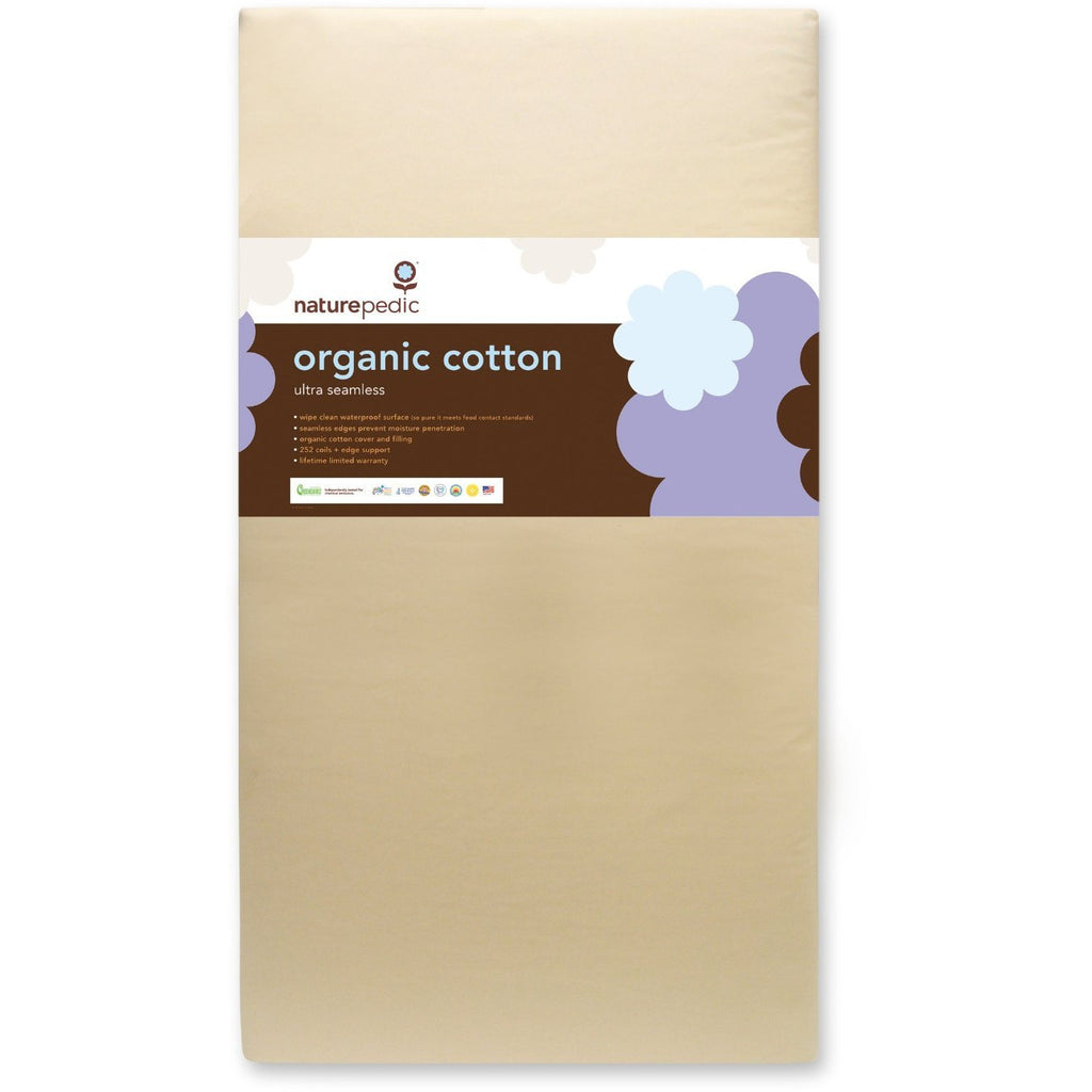 Naturepedic Organic Cotton Ultra 252 Seamless Crib Mattress