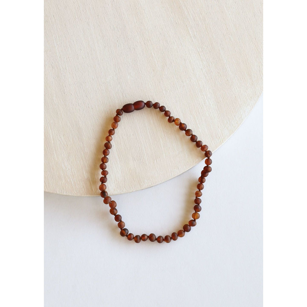 Canyon Leaf Raw Cognac Amber Necklaces