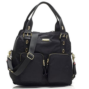 Storksak Black Alexa Diaper Bag, One Size