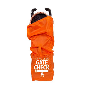 JL Childress Orange Gate Check Bag for Std/Double Strollers