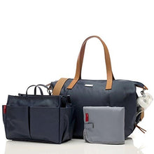 Load image into Gallery viewer, Storksak Navy Noa Shoulder Bag Diaper Bag with Organizer