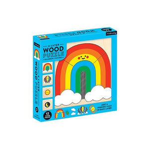 Puzzle 4 Layer Wood Rainbow Friends