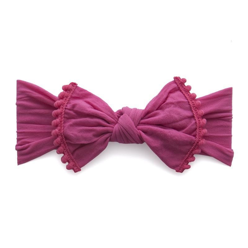 Baby Bling Bow Trimmed Classic Knot, Hot Pink