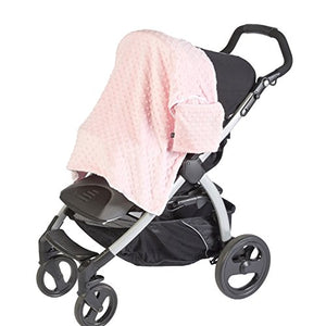 JL Childress Minky Pink Stroller Blanket
