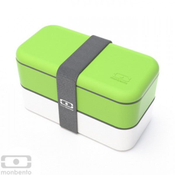 Monbento MB Original V Green/White Bento Box