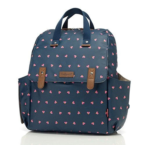 Babymel Robyn Convertible Backpack Diaper Bag, Origami Heart Navy
