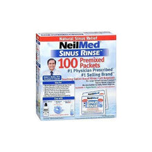 Load image into Gallery viewer, Sinus Rinse Regular Mixture Packets - Relieves Allergies & Sinus Symptoms, 100 Salt Premixed Packets, 2 Pack