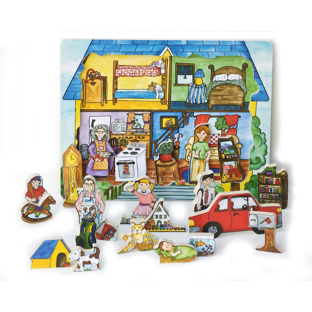Flipzles House Puzzle and Play Set